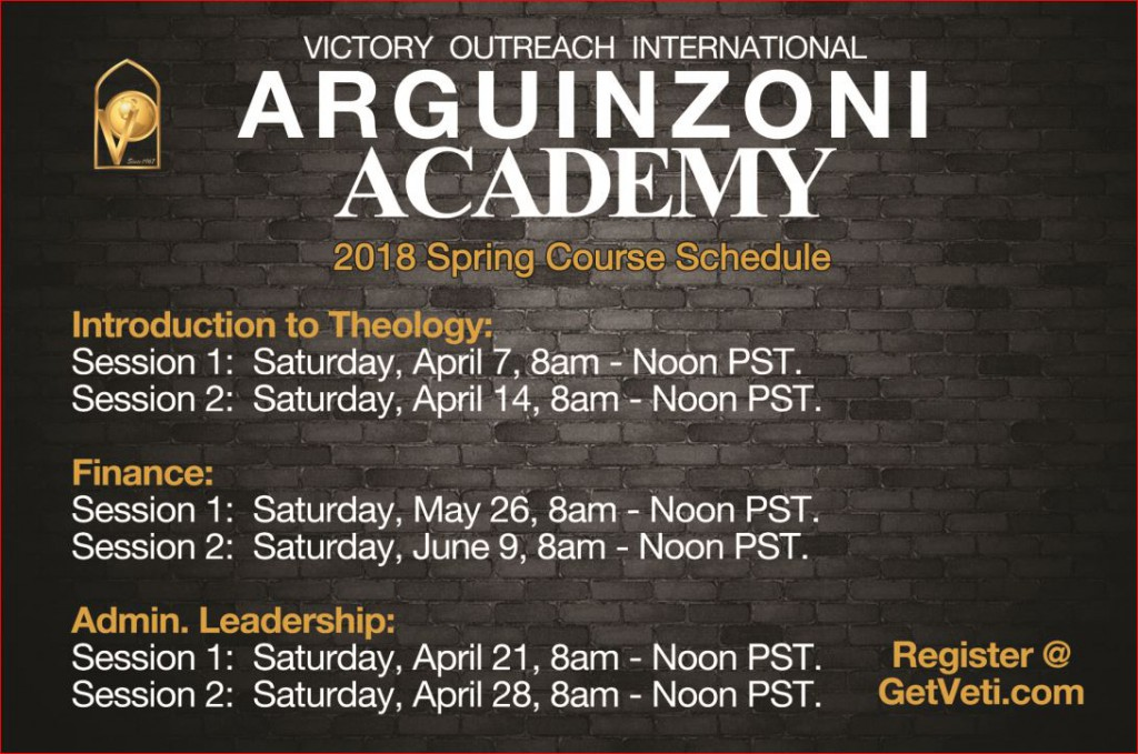 Academy Schedule Email