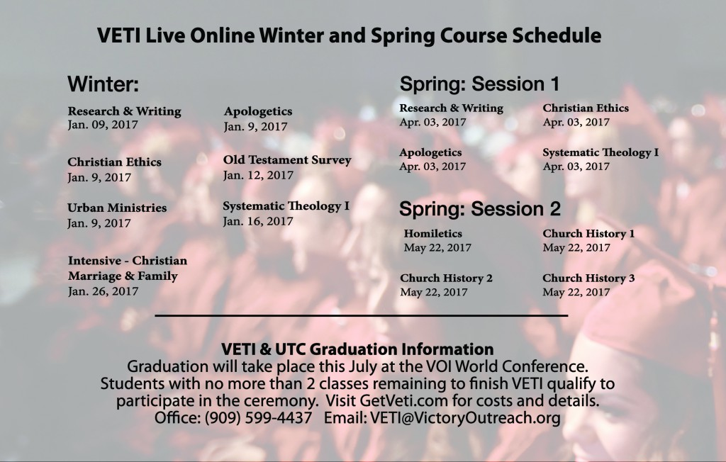 VETI Live Schedule 2017