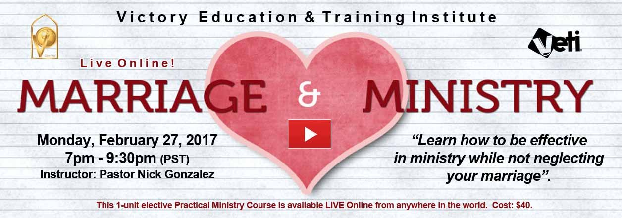 Marriage & Ministry VETI