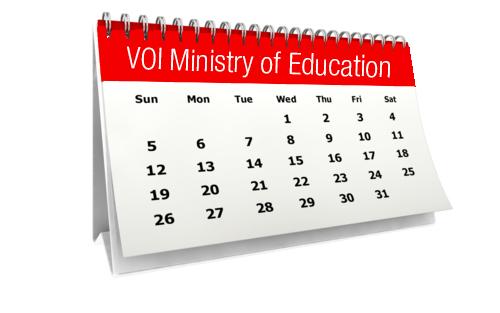 VOI MOE Calendar
