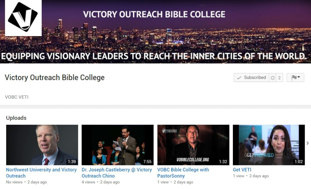 Victory Outreach Bible College YouTube